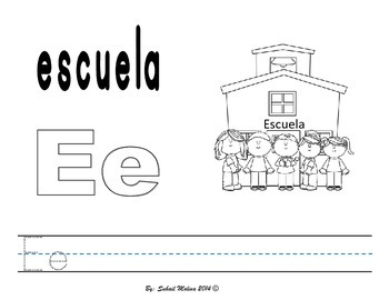 Vowels- vocales worsheets- English & Spanish