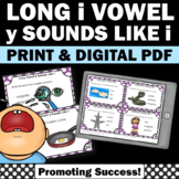 y sounds like i Long Vowel Activities, Phonics Task Cards