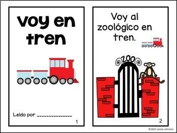 Voy en tren ~ I Go by Train ~ Readers and Build-a-Book {Bilingual Bundle}