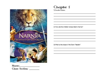 Voyage Of The Dawn Treader Booklet
