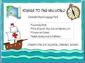 Voyage To The New World Language Pack: European Explorers