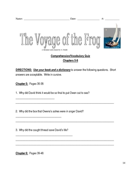 Voyage of the Frog Gary Pau... by Sandra Friedli   Teachers Pay ...