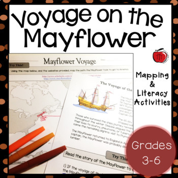 Voyage of the Mayflower Worksheets