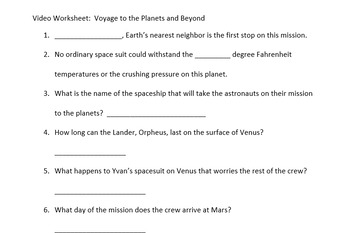 Voyage to the Planets and Beyond