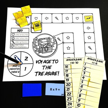 Voyage to the Treasure! Multiplication Within 100 Game