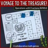 Voyage to the Treasure! Operations With Fractions Bundle