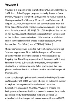 Voyager 1 Handout