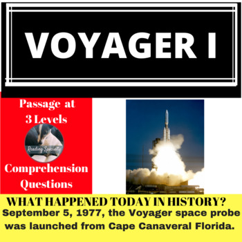 Voyager I Differentiated Reading Passage, September 5