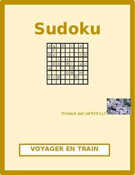 Voyager en train (Train travel in French) Sudoku