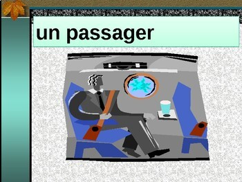 Voyager par avion (Travel by airplane in French) power point