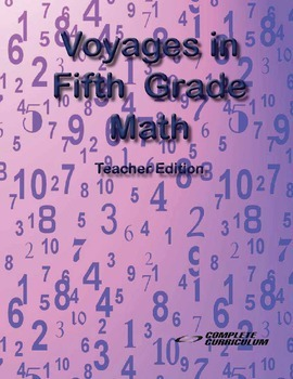 Voyages in Fifth Grade Math - Teacher's Edition