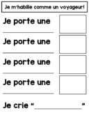 Voyageur Writing Activity - JE PORTE