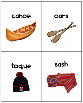 Voyageur Vocabulary Cards - English Version