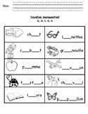 Voyelles Manquantes - a, e, i, o, u