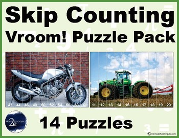Skip Counting and Counting Vroom! puzzle pack (letter sized)