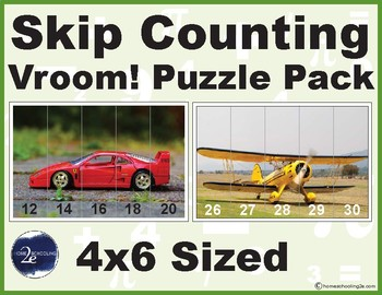 Skip Counting and Counting Vroom! puzzle pack (size 4x6)