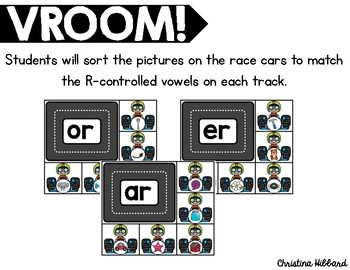 Vroom! R-Controlled Vowels Sort