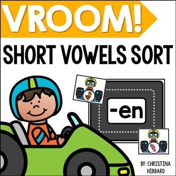 Vroom! Short Vowels Sort