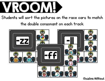 Vroom! Double Consonants Sort