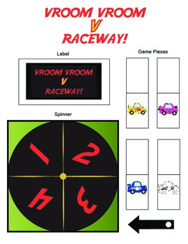 Vroom Vroom /V/ Raceway Articulation Boardgame!