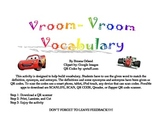Vroom Vroom Vocabulary- Synonyms, Antonyms, and Definitions
