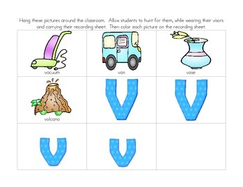 Vroom!  Vroom!  Volumes of Learning with Letter Vv:  Vv Activities