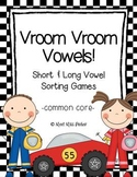Short & Long Vowel Sorting Games - Vroom Vroom Vowels (Common Core)