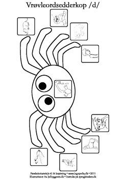 Vrøvleordsedderkopper /d/