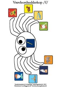 Vrøvleordsedderkopper /f/