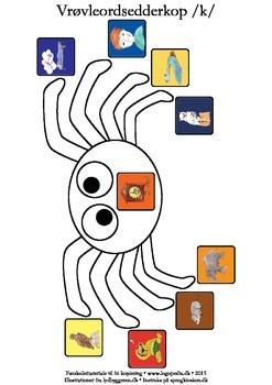 Vrøvleordsedderkopper /k/