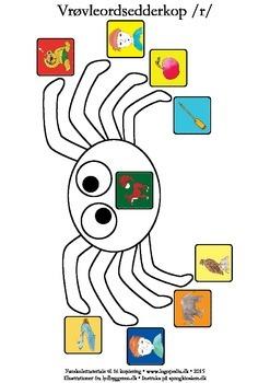 Vrøvleordsedderkopper /r/