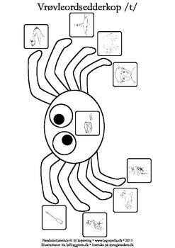Vrøvleordsedderkopper /t/