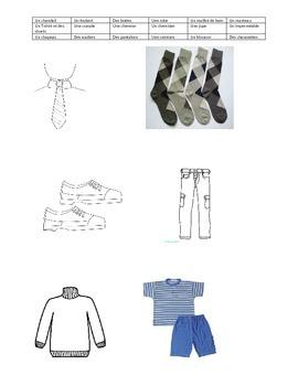 Vêtements worksheets