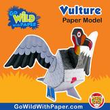 King Vulture Craft Activity | 3D Paper Model