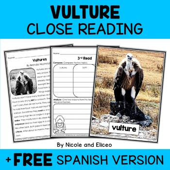 Close Reading Vulture Activities