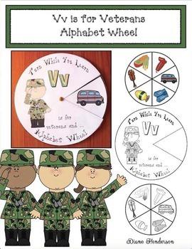 Alphabet Crafts: Alphabet Activities: Vv is for Veterans Alphabet Wheel