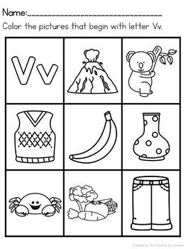 Letter V { Alphabet Practice }