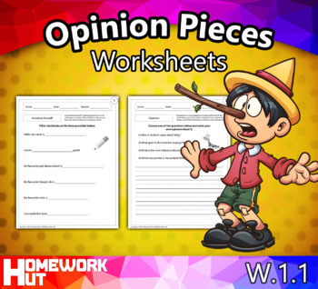 W.1.1 - Opinion Pieces Worksheets