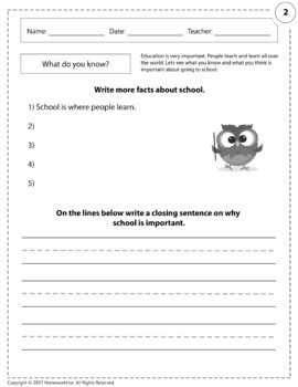 W.1.2 - Factual Text Worksheets