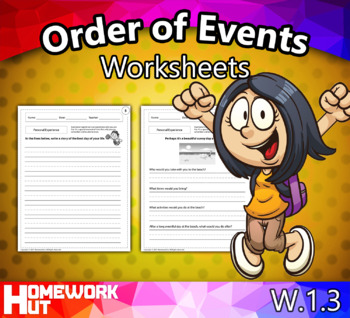 W.1.3 - Order of Events Worksheets