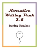 W.3.3, W.4.3, W.5.3 Personal Narrative Writing Pack