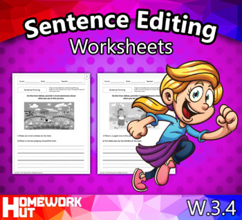 W.3.4 - Sentence Editing Worksheets