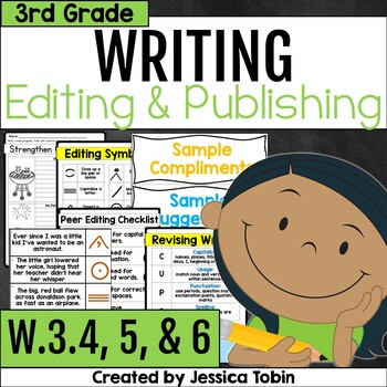 W.3.4 W.3.5 and W.3.6- Editing, Revising, and Publishing Writing 3rd Grade