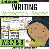 W.3.7 and W.3.8- Research Writing 3rd Grade