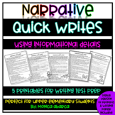 Narrative Quick Writes using Informational Details | Dista