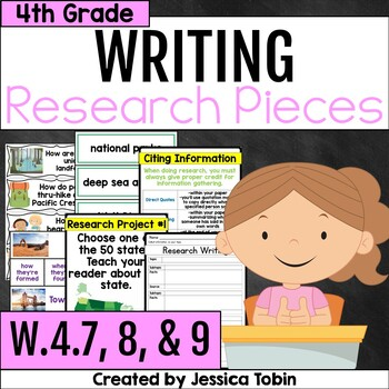 W.4.7 W.4.8 W.4.9 Research Writing 4th Grade