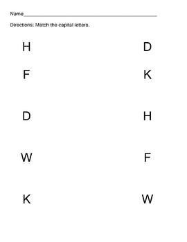 W 9.1  Match Capital Letters