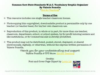 W.A.C. Vocabulary Graphic Organizer