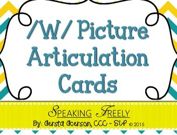 W Articulation Picture Cards