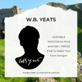 W.B. YEATS Signature Silhouette Posters